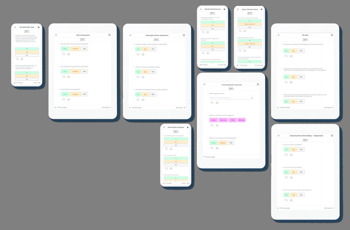 Checklist para tablet
